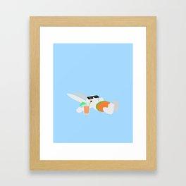 Sun Bun Beached Framed Art Print