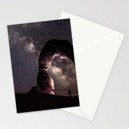 Watching stars Stationery Cards