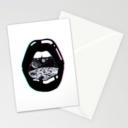 Space Lips Stationery Cards