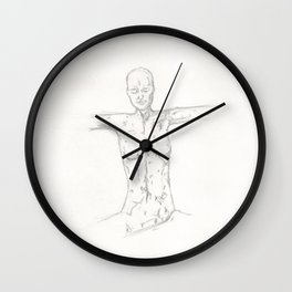Woman with Open Arms Wall Clock
