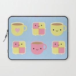 Kawaii Battenberg Cake & Cup of Tea Laptop Sleeve
