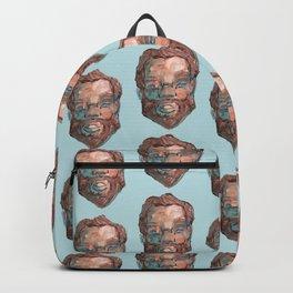 bearded pattern Backpack