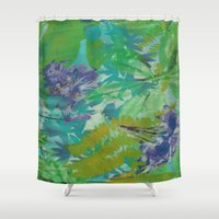 jungle Shower Curtains featuring JUNGLE by icydorTM