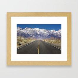 Snowcapped Sierras Highway 136 Framed Art Print