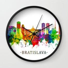 Bratislava Slovakia Skyline Wall Clock
