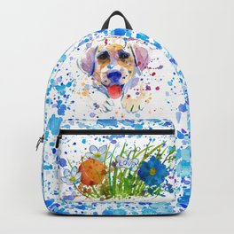 White labrador puppy portrait Backpack