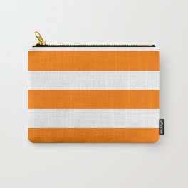 Heat Wave - solid color - white stripes pattern Carry-All Pouch