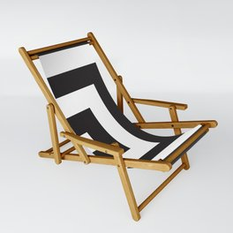 Black Greek Stripes Sling Chair
