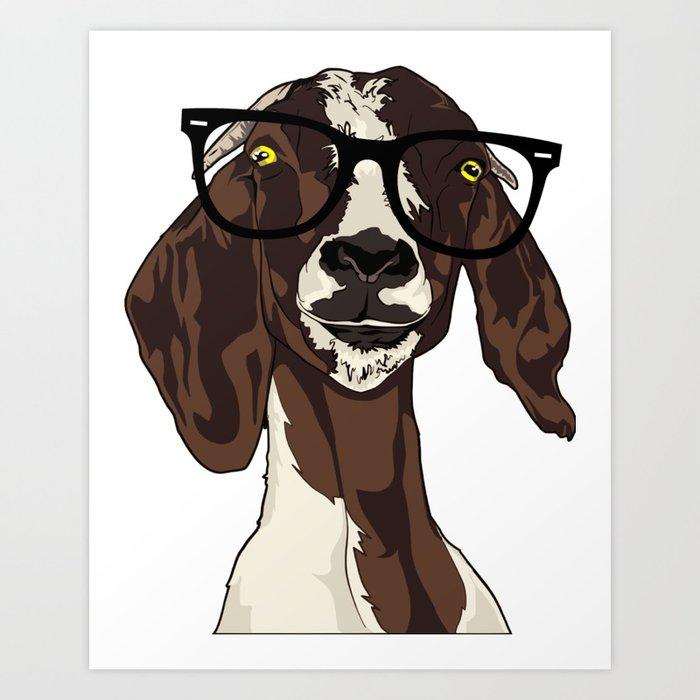 Hipster Goat Kunstdrucke
