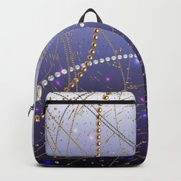 Pattern Pearls White and Black. Lila Backpack