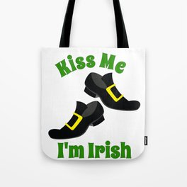 Irish Kiss Me I'm Irish Leprechaun Shoes Tote Bag