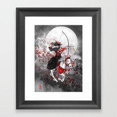 Horse and Rider - Yabusame Framed Art Print