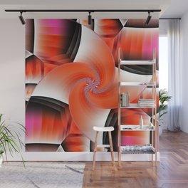Windmill orange Wall Mural