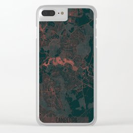 Canberra Map Red Clear iPhone Case