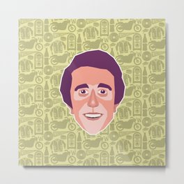 Fonzie - Happy Days Metal Print