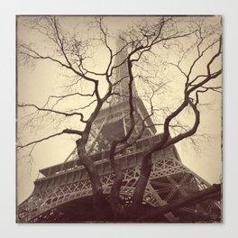 Eiffel Tower Structure Canvas Print