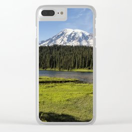 Mt Rainier from Reflection Lake, No. 1 Clear iPhone Case