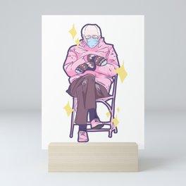 Bernie Sitting In A Chair Mini Art Print