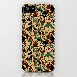 Corgi Camouflage iPhone Case