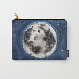 Moon, Blue skies, Lovely Moon, Moon and Sunshine, Gift, night sky Carry-All Pouch