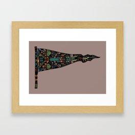 Shafted Pennant Framed Art Print