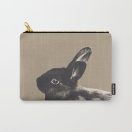 Little Rabbit on Sepia #1 #decor #art #society6 Carry-All Pouch