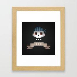 Pixel Skull Framed Art Print
