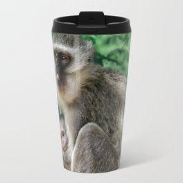 Vervet monkey mom and baby Travel Mug
