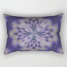 Flowery Shapes (Purple) Rectangular Pillow