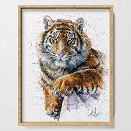 Tiger watercolor Serving Tray
