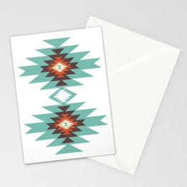 Southwest Santa Fe Geometric Tribal Indian Abstract Pattern Stationery Cards