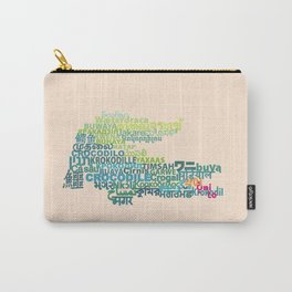 Crocodile in Different Languages Carry-All Pouch