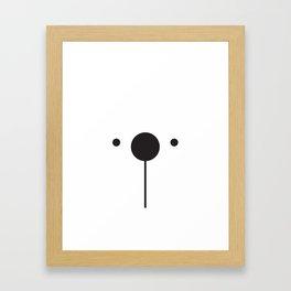 Black & White Minimalist Bear Concept Framed Art Print