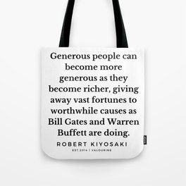 20    |  Robert Kiyosaki Quotes | 190824 Tote Bag
