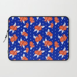 Florida fan gators university orange and blue team spirit football college sports florals Laptop Sleeve