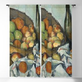 THE BASKET OF APPLES - PAUL CEZANNE Blackout Curtain