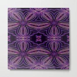 Colorful Purple Flowers Metal Print