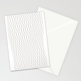 Fish net / black on white distorted geometry Stationery Cards