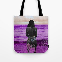 COLOUREDWOMAN - beach , sea , ocean , swim , abstract Tote Bag
