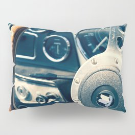 Old Triumph Wheel / Classic Cars Photography Pillow Sham