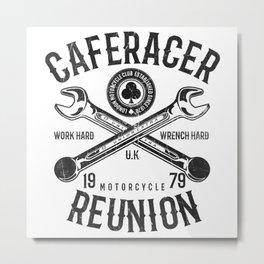 Cafe Racer Reunion Vintage Tools Poster Metal Print