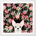 Chihuahua face floral dog breed cute pet gifts pure breed dog lovers chihuahuas by chiwawafans