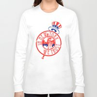 "yankees Long Sleeve T-shirts featuring ""Subway Series"" Yankees by InNYweTrust"