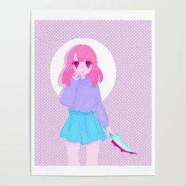 Pink girl Poster