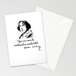 Oscar Wilde Quote sticker Stationery Cards