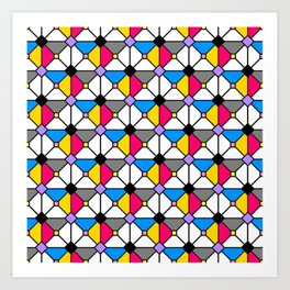 Playing Origami Flower Geometry - Color Floral Play #1 Colorful Art Print
