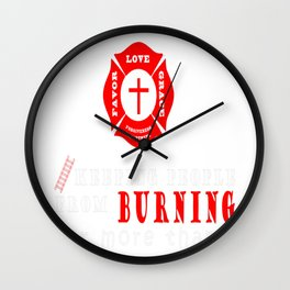 Jesus the original firefighter Wall Clock