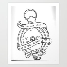 remember where you've been  Art Print
