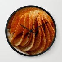 potato Wall Clocks featuring Potato Chips by Guna Andersone & Mario Raats - G&M Studi