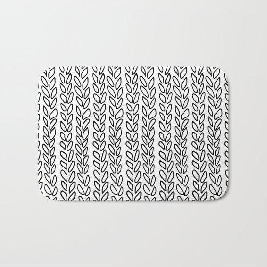 Knit Outline Zoom Bath Mat